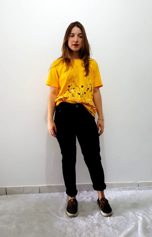 Camiseta Respingos Amarela