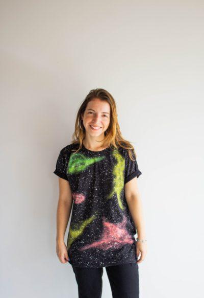 Camiseta Galaxy Formas M Eles